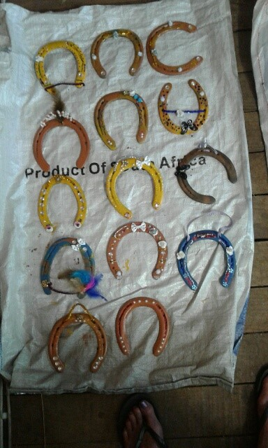 Horse shoe decorations